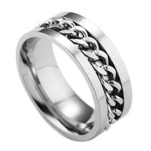 Other - Stainless Steel Unisex Silver Wedding men ring 10